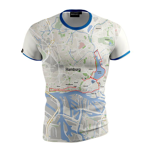 hardloopshirt heren marathon Hamburg duurzaam en geurvrij merk Donaci