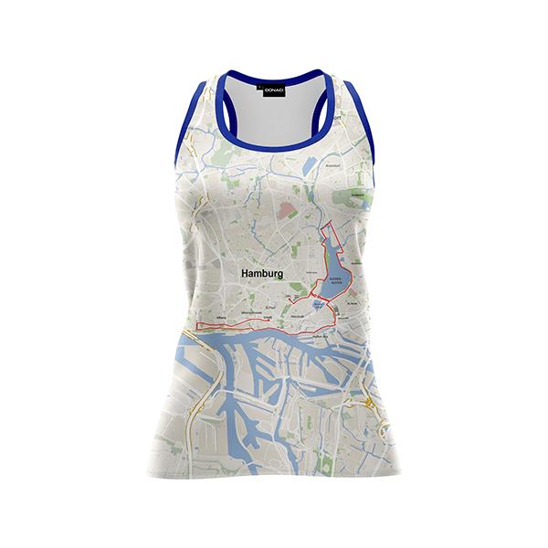 hardloopshirt dames marathon Hamburg duurzaam en geurvrij merk Donaci