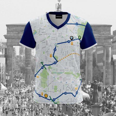 hardloopshirt marathon Berlijn duurzaam en geurvrij merk Donaci