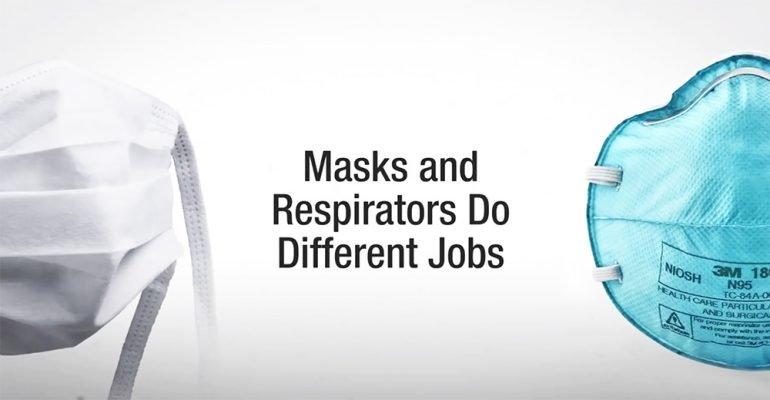 mask vs respirator masker tov mondkapje
